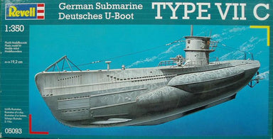 Revell 1/350 German Submarine Type Vii C