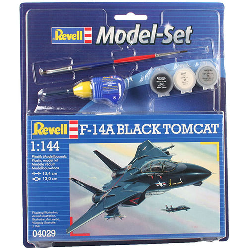 Revell 1/144 F-14A Black Tomcat Model Set