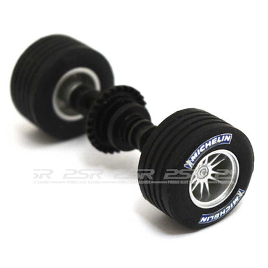 Scalextric W8452 Rear Wheel/Axle With Pinion