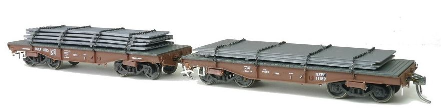 Sds HO Te Flat Wagon With Steel Load 1980 Twin Pack A (2)