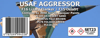 SMS SET23 USAF Aggressor Lizard Flanker Colour Set