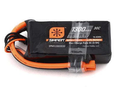 Spektrum 1300mah 3S 11.1v 30C Smart LiPo Battery with IC3 Connector