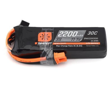 Spektrum 2200mah 3S 11.1v 30C Smart LiPo Battery with IC3 Connector
