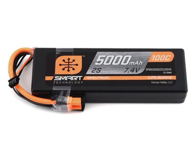 Spektrum 5000mah 2S 7.4v 100C Smart Hard Case LiPo Battery with IC3 Connector