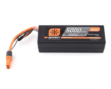 Spektrum 5000mah 3S 11.1v 100C Smart Hard Case LiPo Battery with IC5 Connector