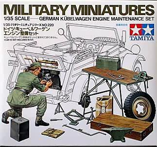 Tamiya 1/35 German Kubelwagen Engine Maintenance Set