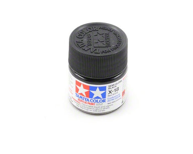 Tamiya X-18 Acrylic Semi Gloss Black