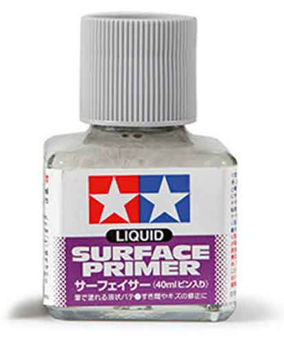 Tamiya 87075 Liquid Surface Primer Grey 40ml