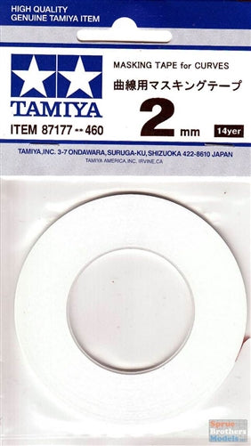 Tamiya 87177 Masking Tape For Curves 2Mm