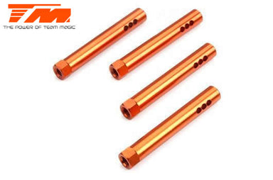 Team Magic 503340AO E4D-F Aluminium Battery Cover Post Orange (4)