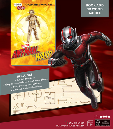 Incredibuilds Marvel Ant Man and The Wasp Book and 3D Wood Model