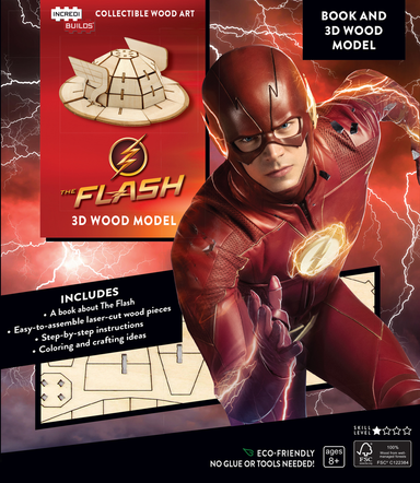 Incredibuilds The Flash Book and 3D Wood Model