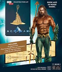 Incredibuilds Aquaman Book and 3D Wood Model