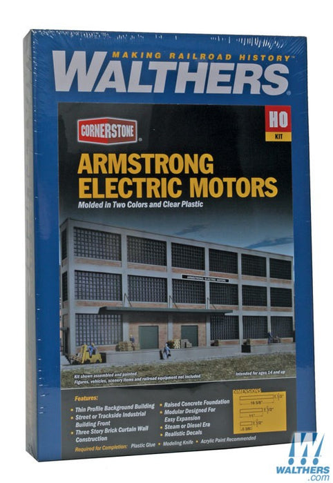 Walthers Cornerstone HO Armstrong Electric Motors Background Building - Kit