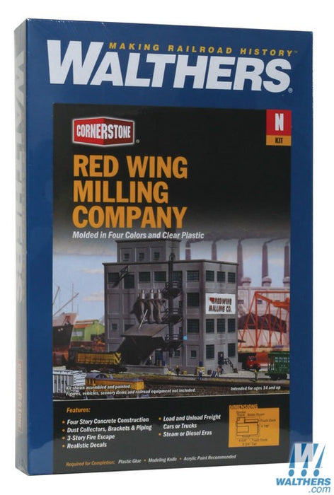Walthers Cornerstone N Red Wing Milling Co. - Kit - 6-5/8 x 4-7/8in 16.5 x 12cm
