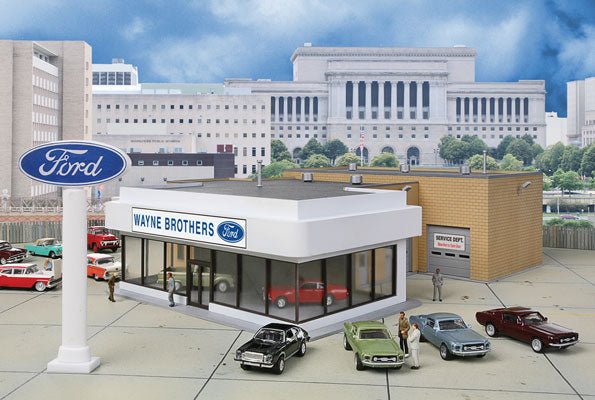 Walthers Cornerstone HO Wayne Bros Ford Dealership