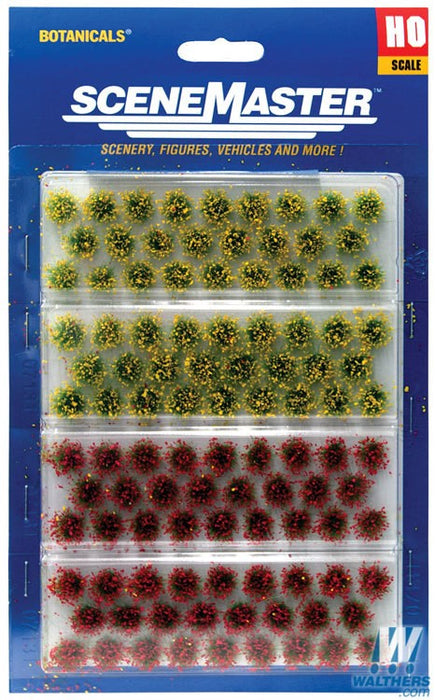 Walthers SceneMaster HO Grass Tufts - pkg(104) 1/4in 0.6cm Tall - Blooming Flowers