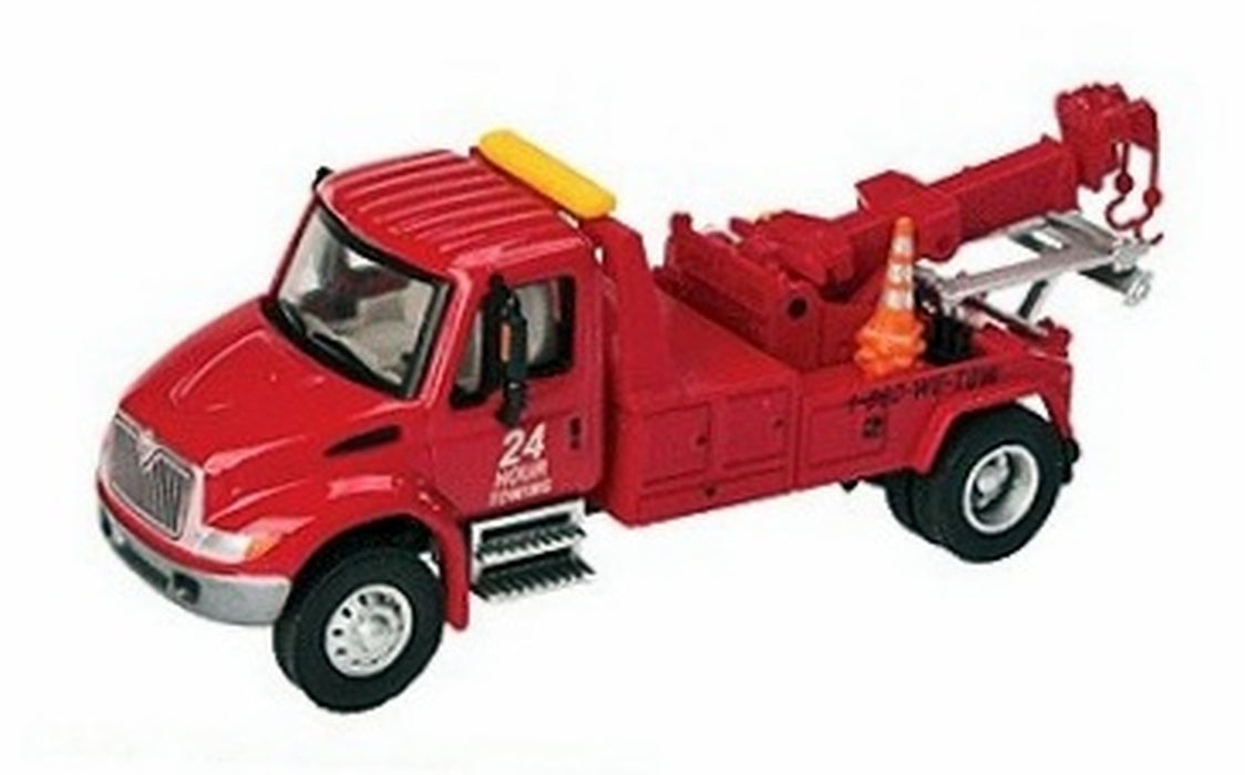 Walthers SceneMaster HO International(R) 4300 Tow Truck - Assembled - Red