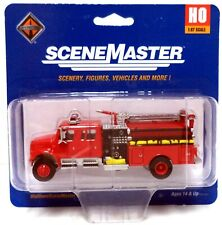 Walthers SceneMaster HO International(R) 4900 Crew Cab Fire Engine - Assembled - Red