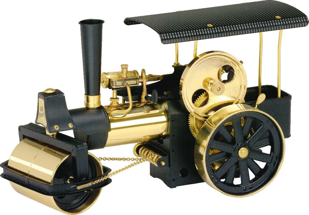 Wilesco D366 Steam Roller Black/Brass