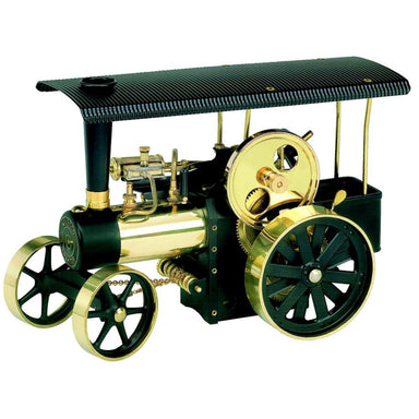 Wilesco D406 Steam Traction Engine Black And Brass