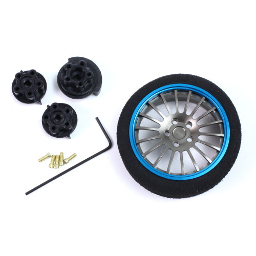 Yeah Racing Aluminum Transmitter Wheel Blue