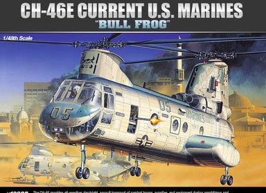 ACADEMY 1/48 CH-46E 'BULLFROG' HELICOPTER