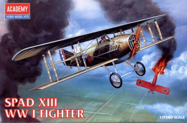 Academy 1/72 Spad Xiii Wwi Fighter Plastic Model Kit