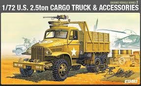 ACADEMY 1/72 US 2.5TON CARGO TRUCK AND ACCESSORIES