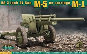 ACE 1/72 U.S. 3INCH ANTI-TANK GUN M-5 ON CARRIAGE