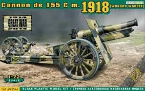 ACE 1/72 CANNON DE 155 C M.1918 (WOODEN WHEELS)