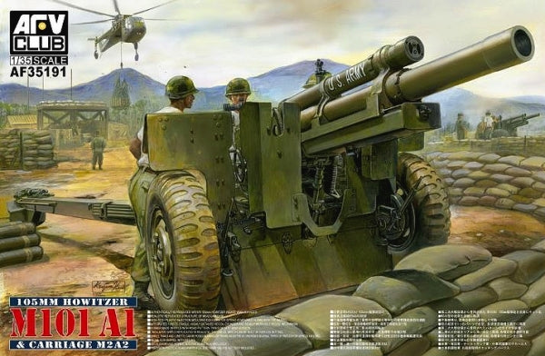 AFV-CLUB 1/35 105MM HOWITZER M101A1 ON CARRIAGE M2A2