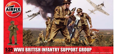 AIRFIX 1/32 BRITISH INFANTRY SUPPORT SET