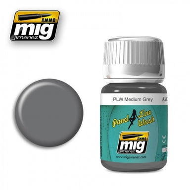 MIG AMMO PANEL LINE WASH MEDIUM GREY