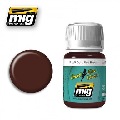 MIG AMMO PANEL LINE WASH DARK RED BROWN