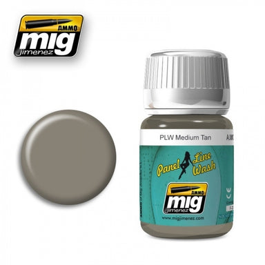 MIG AMMO PANEL LINE WASH MEDIUM TAN