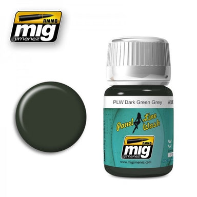 MIG AMMO PANEL LINE WASH DARK GREEN GREY
