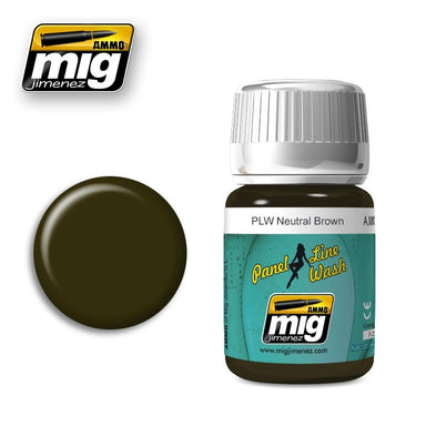 MIG AMMO PANEL LINE WASH NEUTRAL BROWN