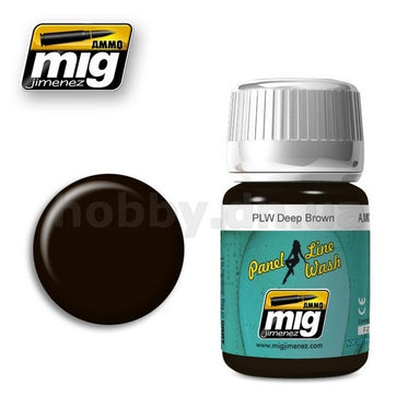 MIG AMMO PANEL LINE WASH DEEP BROWN