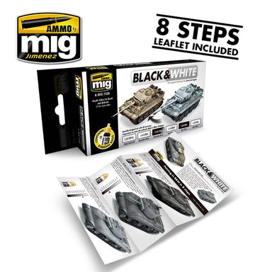 MIG AMMO BLACK AND WHITE TECHNIQUE