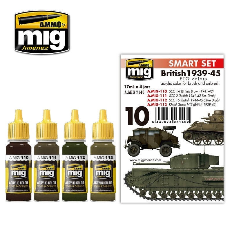 MIG AMMO BRITISH 1939-45 EUROPEAN COLORS