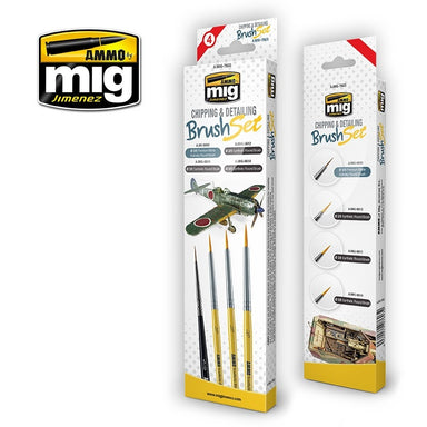 MIG AMMO CHIPPING & DETAILING BRUSH SET