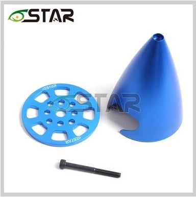 "6STAR 3.25""/83MM POINTED ALUMINIUM SPINNER BLUE"