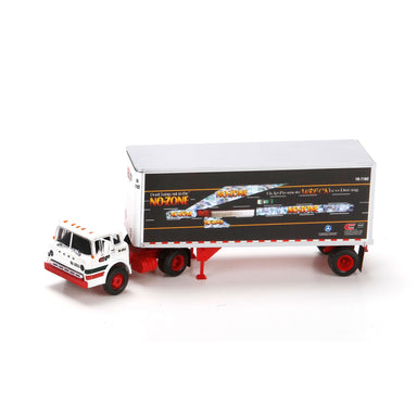 ATHEARN HO RTR FORD C TRUCK w/28' SMOOTH TRAILERr, CF/NO ZONE