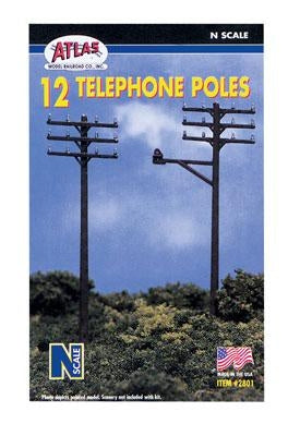 ATLAS N TELEPHONE POLES (12)
