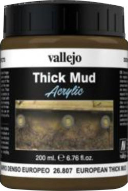 VALLEJO DIORAMA EFFECTS EUROPEAN THICK MUD 200ML