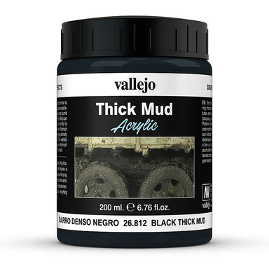VALLEJO DIORAMA EFFECTS BLACK THICK MUD 200ML