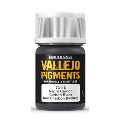 VALLEJO PIGMENT CARBON BLACK 30ml