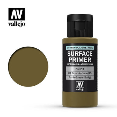 VALLEJO PRIMER ACRYLIC POLYURETHANE EARTH GREEN (EARLY) 60ml