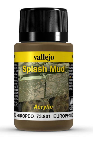VALLEJO WEATHERING EFFECTS EUROPEAN SPLASH MUD 40 ML